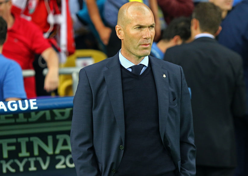 coach Zinedine Zidane del Real Madrid