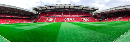 Anfield stadium of LFC in Liverpool