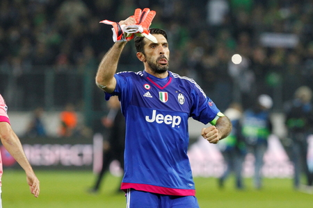 Gianluigi Buffon at the Champion League